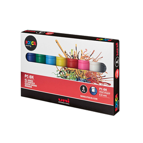 Posca Paint Marker Sets Chisel 8mm Pack 8 - Assorted