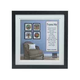 Profile Colouring Book Frame Black 300mm x 300mm