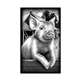 Reeves Mini Silver Scraperfoil (Piglet)