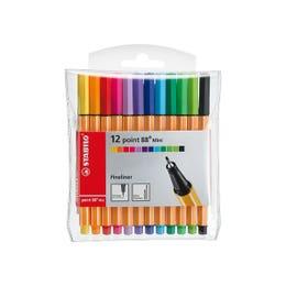 STABILO Point 88 Mini Fineliner Pen Set 12