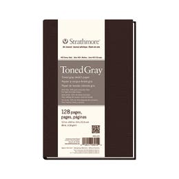 """Strathmore Series 400 Hardbound Journals 118gsm 64 Pages Grey 5.5"""" x 8"""""""