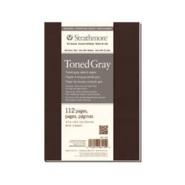"""Strathmore Series 400 Softcover Toned Art Journals 118gsm 56 Pages Grey 5.5"""" x 8"""""""