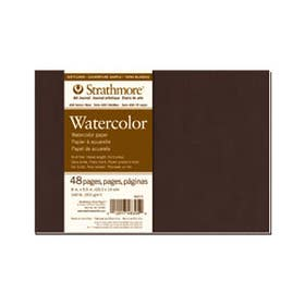 """Strathmore Series 400 Softcover Watercolour Journals Medium (Cold Pressed) 300gsm 24 Pages 5.5"""" x 8"""""""