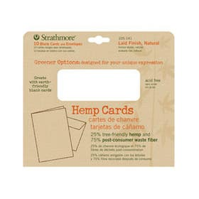 Strathmore Greener Options Cards & Envelope Packs Hemp Pack 10