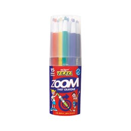 Texta Zoom Twist Crayons Assorted Colours Cup 15