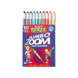 Texta Zoom Twist Jumbo Crayons Wallet 10