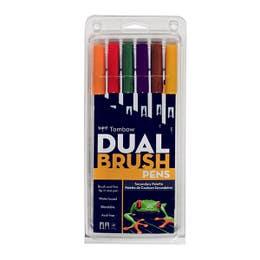 Tombow Dual Brush Pen Set 6 Secondary Colours