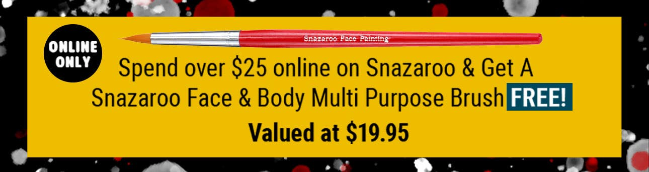 Spend over $25 on Snazaroo & Get a Free Brush! Online only!
