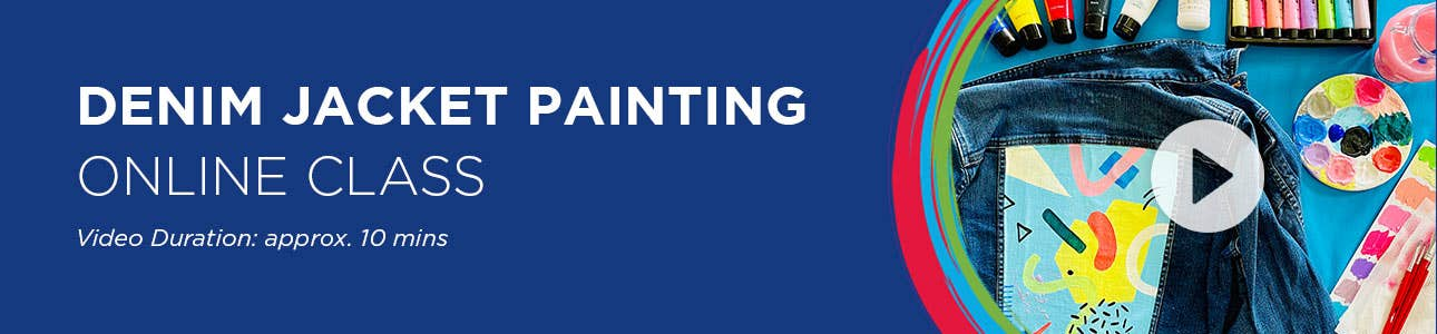 Creative Kids Denim Jacket Painting Online Class