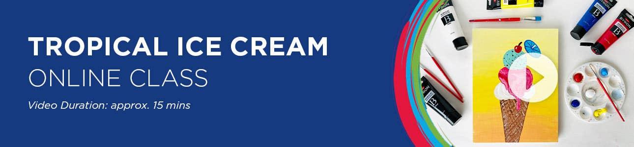 Tropical Ice Cream Online Class