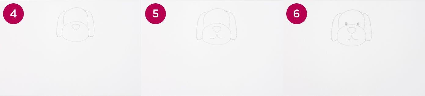 Cartoon Dog Steps 4-6