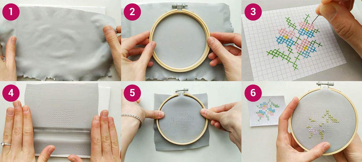 FIMO Embroidery Hoop Steps