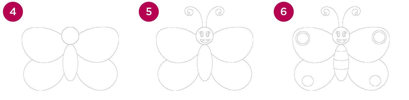 Butterfly Steps 4-6