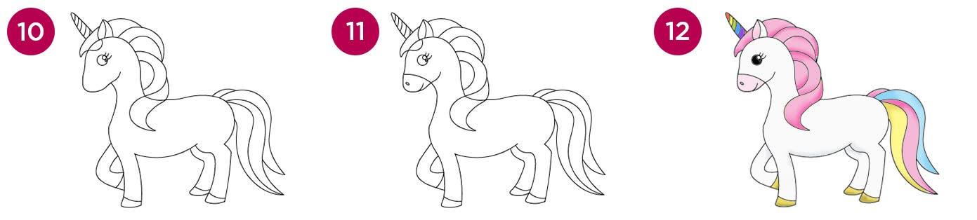 Unicorn Steps 10-12