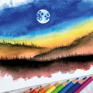 Water Colour Moonshine