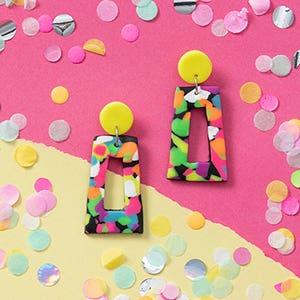 FIMO Neon Earrings