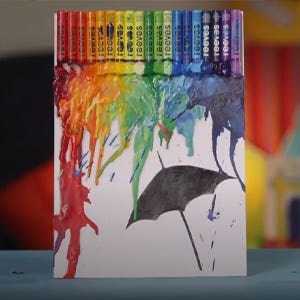 Reeves Oil Pastel Melted Rainbow Rain