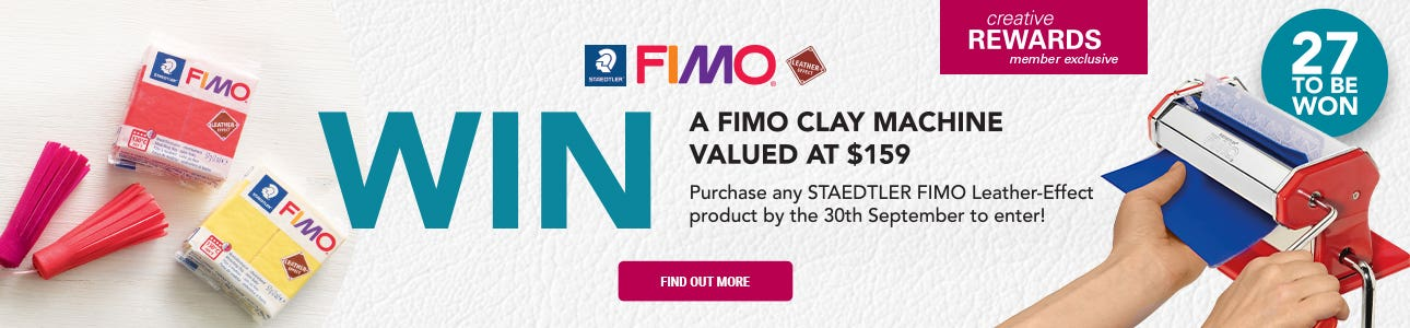 WIN A STAEDTLER FIMO CLAY MACHINE