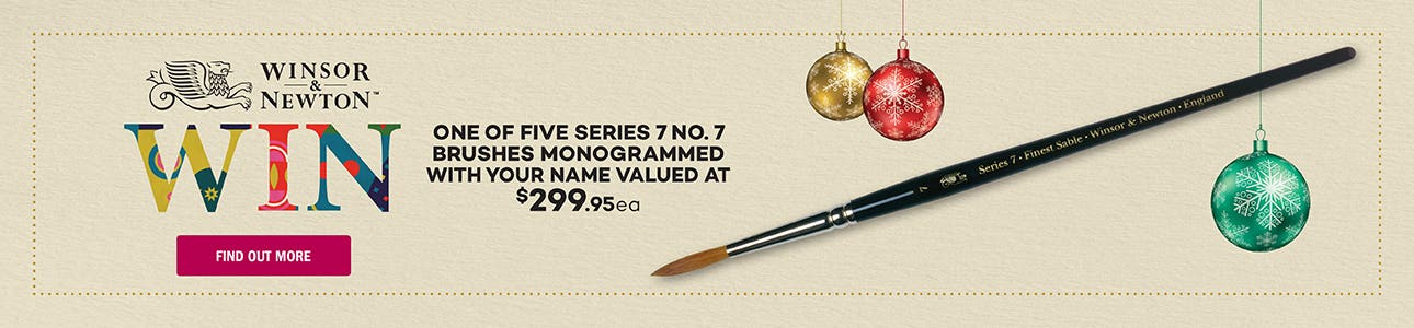 Win a Monogrammed Winsor & Newton Brush