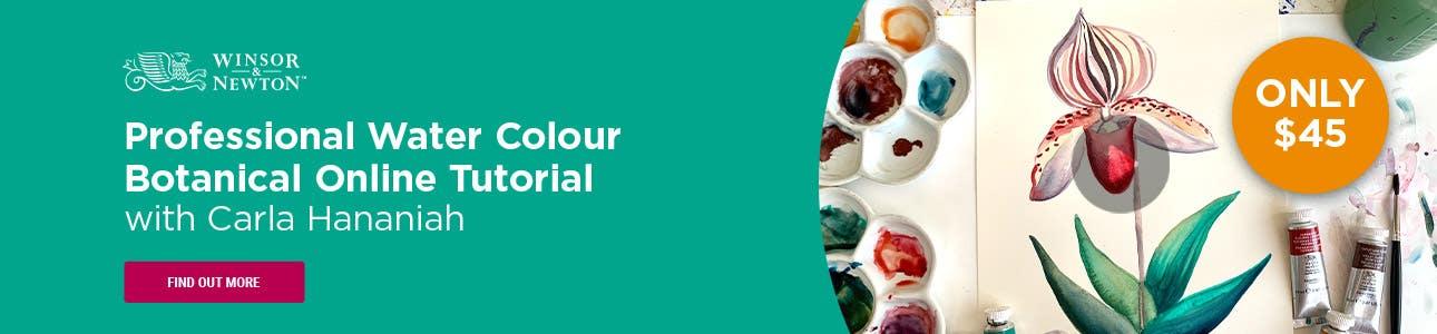 Winsor & Newton Professional Water Colour Botanical Tutorial with Carla Hananiah