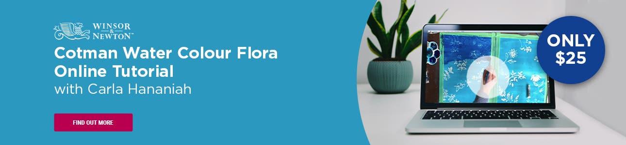 Winsor & Newton Cotman Water Colour Flora Tutorial with Carla Hananiah