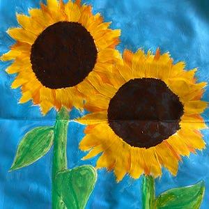 Sky High Sunflowers Kids Art Class